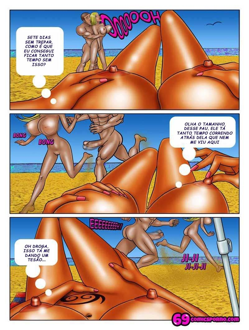 Fazendo orgia na praia