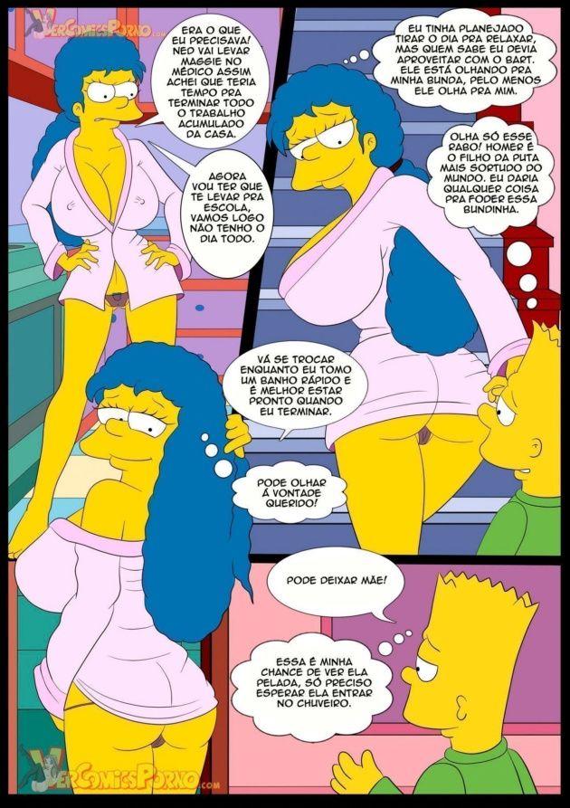 Bart comendo a mamãe gostosa