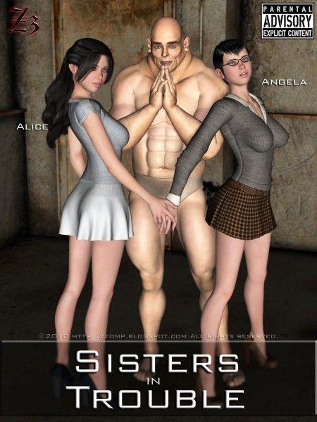 Fazendo uma festinha com as irmãs gostosas