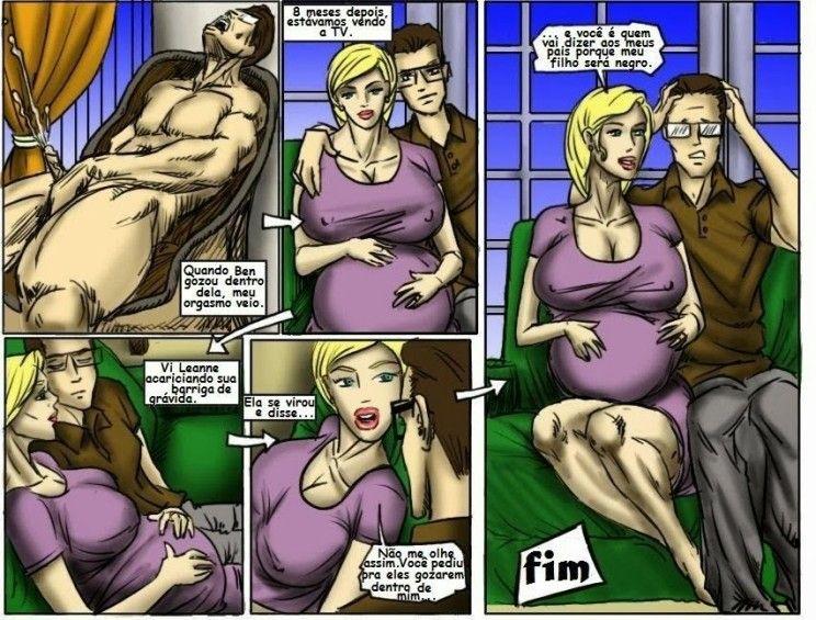 Arrombando a mulher do corno
