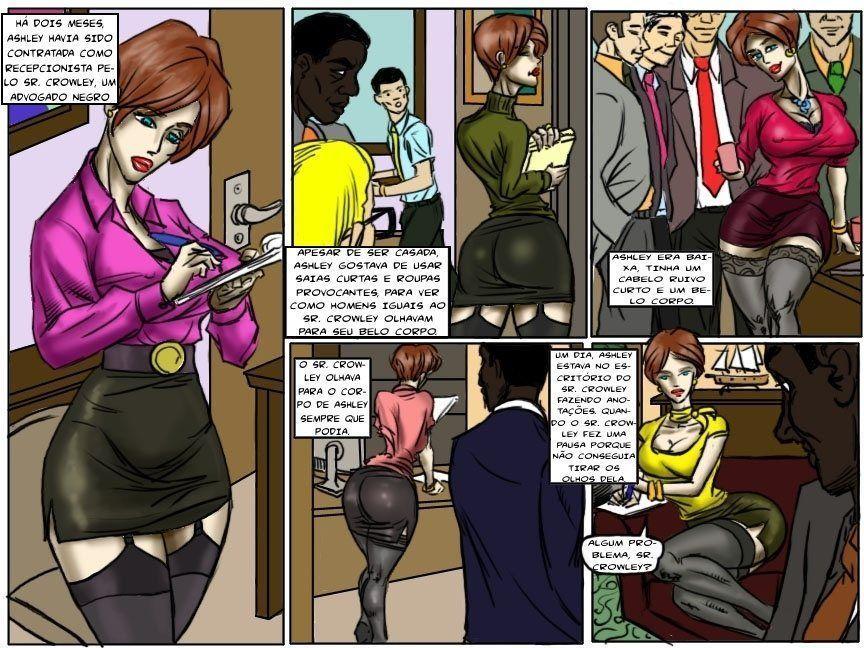 Dando uma gozada na secretaria peituda