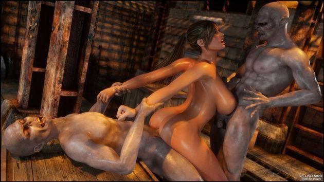 Lara Croft perseguida pela cidade
