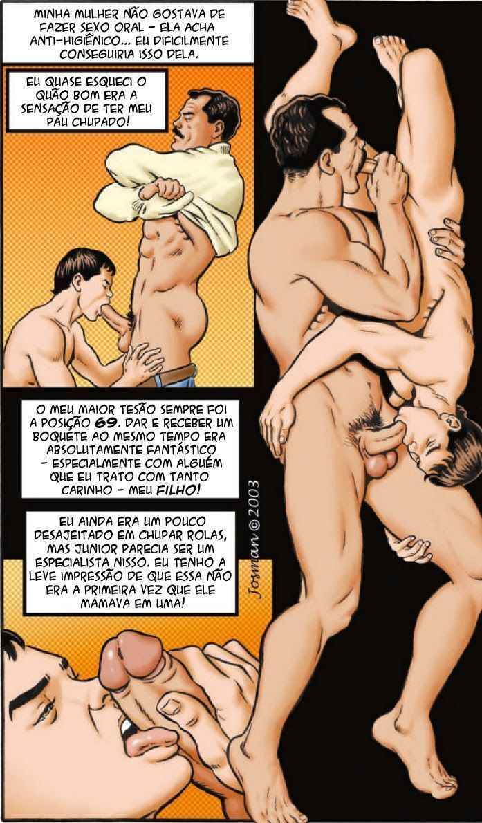 Novinho gay transando com o pai tarado