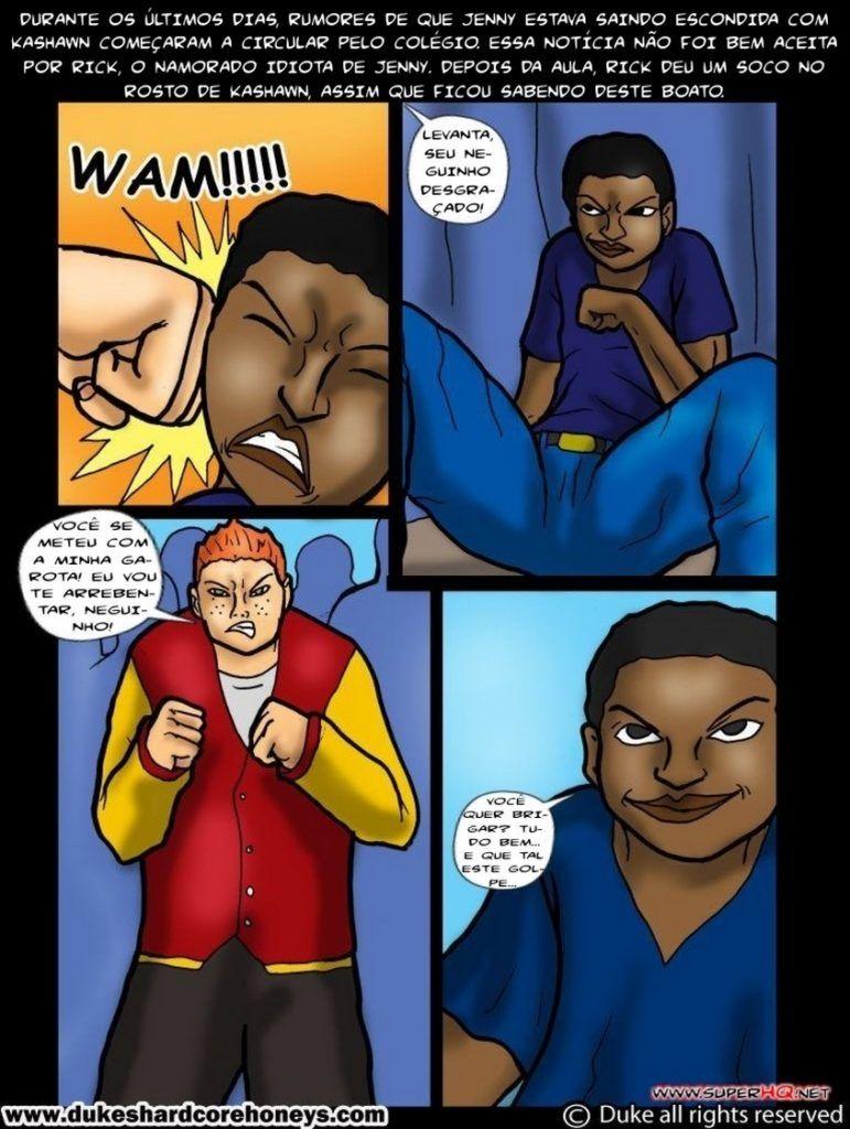 Pegando o amigo negro do filho