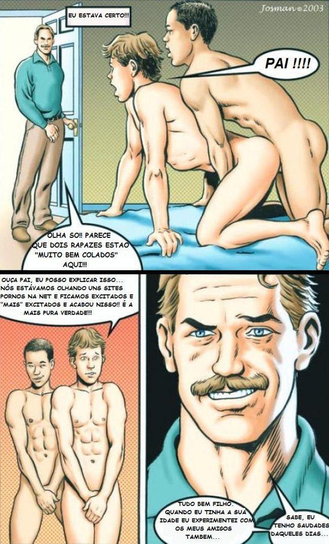 putaria gay com o papai e o namorado