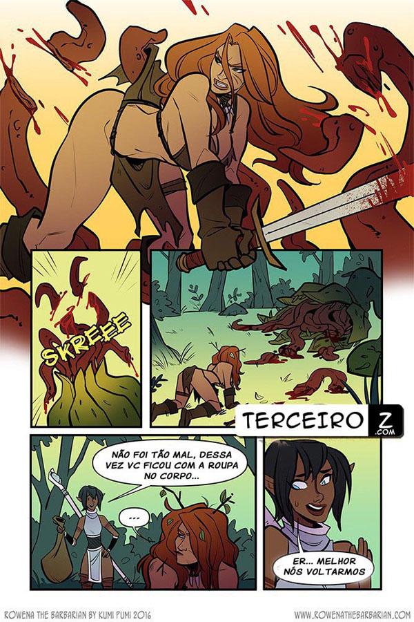Rowena, A Bárbara - Gostosa sendo possuída por um demônio