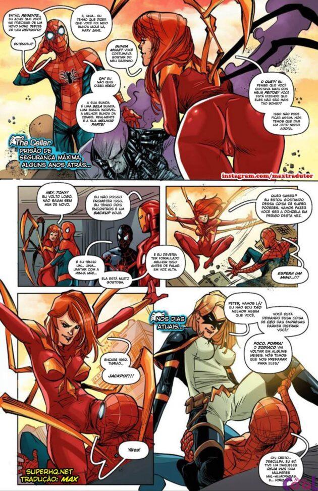 Spiderman e as garotas gostosas
